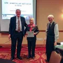 Dr. Chen Yu Zhi receives the inaugural GINA Ambassador award.