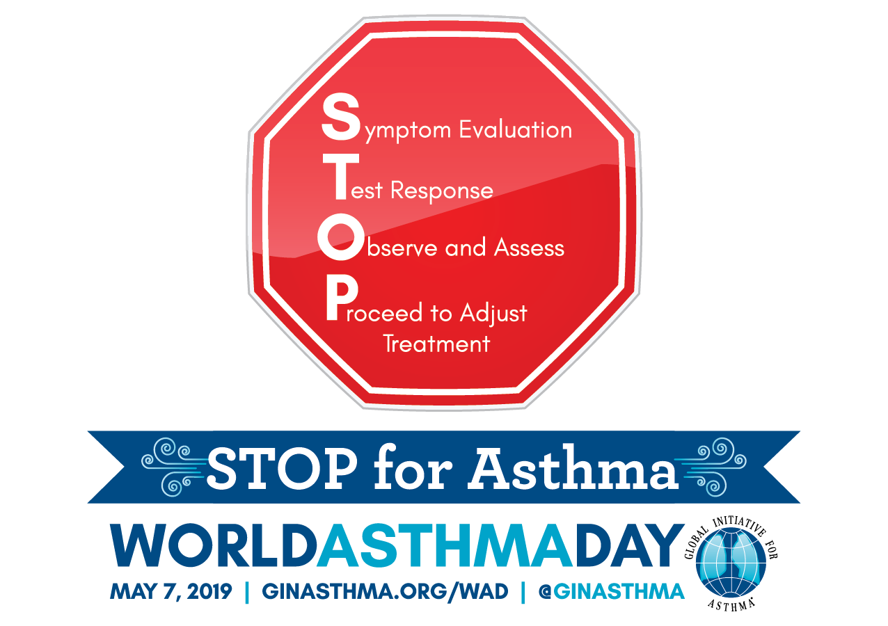 Stop for Asthma. World Asthma Day, May 7, 2019